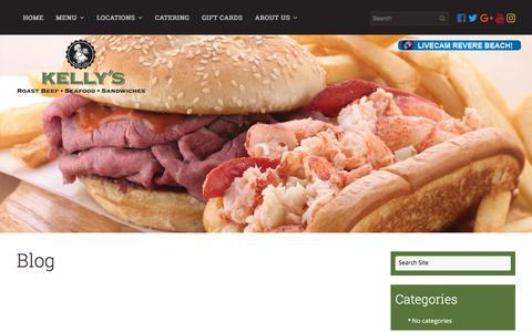 Screenshot of Blog kellysroastbeef.com - Restaurant Blog | Massachusetts | Kelly's Roast Beef - captured June 9, 2017