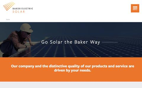 Screenshot of About Page bakerelectricsolar.com - Get Solar in San Diego The Baker Way - captured Aug. 17, 2016