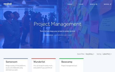 Screenshot of oozled.com - Project Management Tools | oozled - captured March 20, 2016