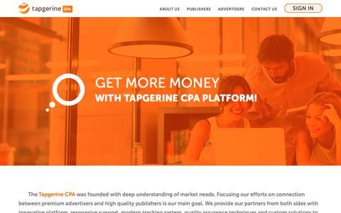 Screenshot of Signup Page tapgerine.com - CPA Tapgerine CPA - captured Nov. 17, 2016