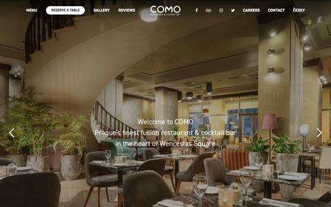 COMO Restaurant – Prague's finest fusion restaurant & cocktail bar