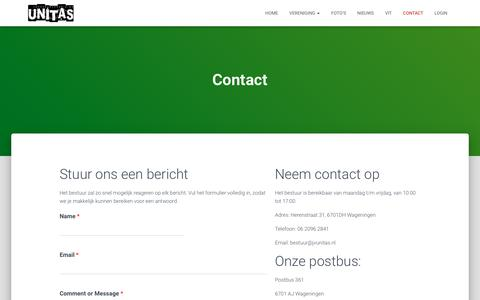 Screenshot of Contact Page jvunitas.nl - Contact - jvunitas - captured Nov. 5, 2018