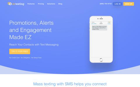 SMS Marketing | EZ Texting