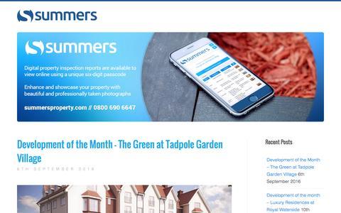 Screenshot of Blog summersproperty.com - Summers Property Inventories - Blog - captured Dec. 2, 2016
