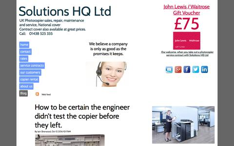 Screenshot of Blog service-photocopiers.co.uk - Blog - Photocopier repair and maintenance service. - captured Dec. 13, 2016