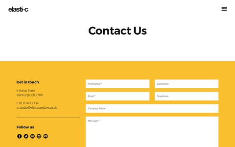 Screenshot of Contact Page elasticcreative.co.uk - Contact Us for Brand Design & Digital Marketing | Elastic - captured July 23, 2017