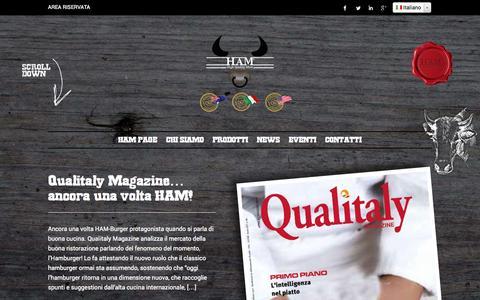 Screenshot of Press Page ham-burger.it - News | HAM - captured Oct. 8, 2014