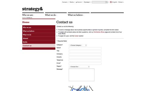 Contact us | PwC's Strategy&