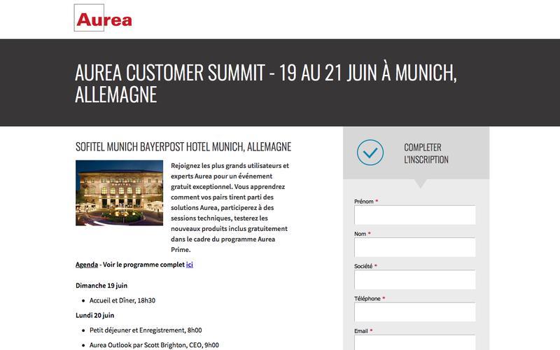 Aurea Customer Summit - 19 au 21 juin à Munich, Allemagne | Aurea