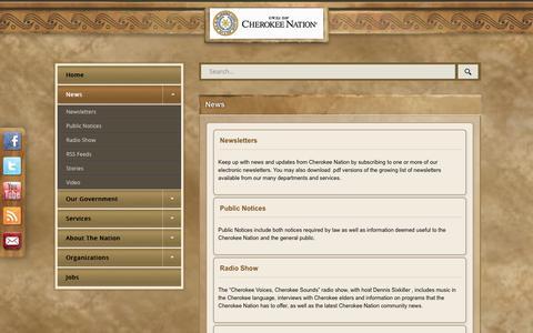 Screenshot of Press Page cherokee.org - News - captured Nov. 10, 2018