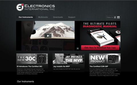 Screenshot of Home Page buy-ei.com - buy-ei.com: Our Instruments - captured Oct. 2, 2014