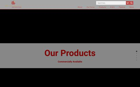 Screenshot of Products Page braeburnpharmaceuticals.com - Products - Braeburn Pharmaceuticals - captured June 2, 2017