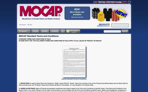 Screenshot of Terms Page mocap.com - MOCAP Standard Terms and Conditions of Sale – MOCAP, Quality Plastic and Rubber Products Manufacturer - captured Sept. 24, 2014