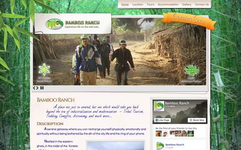 Screenshot of Home Page bambooranch.in - Bamboo Ranch | Experience life on the wild side� - captured Dec. 29, 2015