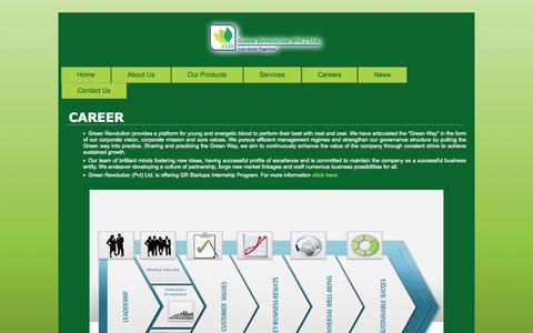 Screenshot of Jobs Page greenrevolution.com.pk - New Page | Green Revolution | Revolution in the Agricultural Field - captured Sept. 22, 2014