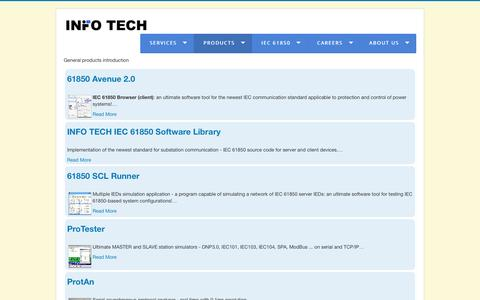 Screenshot of Products Page infotech.pl - Products - captured May 26, 2017