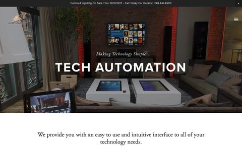 Screenshot of Home Page tech-automation.com - Tech Automation Inc. - captured Nov. 15, 2017