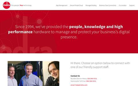 Screenshot of Contact Page indra.com - Contact Indra - captured Nov. 2, 2014