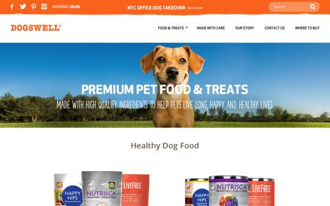 Screenshot of Products Page dogswell.com - Premium Dog Food & Treats for Healthy, Happy Dogs | Dogswell - captured Sept. 24, 2014