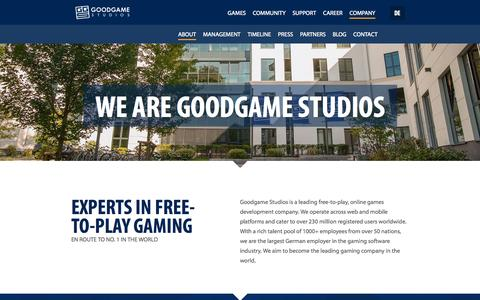 Screenshot of About Page goodgamestudios.com - About Goodgame Studios - captured Oct. 28, 2014