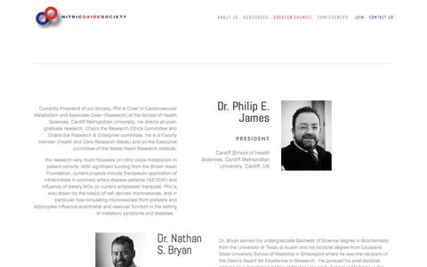 Screenshot of Team Page nitricoxidesociety.org - 2015/18 Council — Nitric Oxide Society - captured Jan. 13, 2018