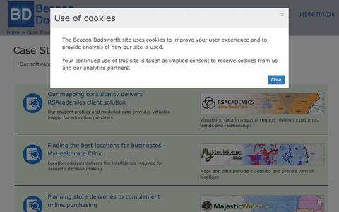 Screenshot of Case Studies Page beacon-dodsworth.co.uk - Case Studies   Beacon Dodsworth - captured Nov. 6, 2018