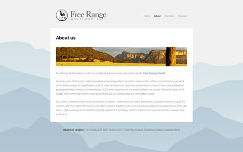 Screenshot of About Page free-range.tv - About us | Free Range Multimedia - captured Oct. 27, 2014