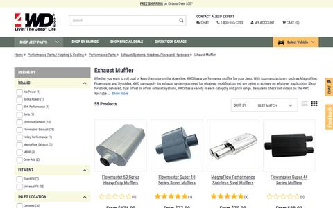 Jeep Exhaust Muffler | FREE Shipping + Price Matching at 4WD.com