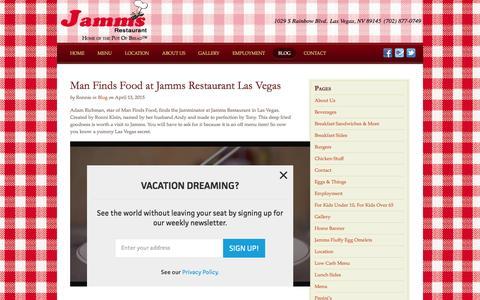 Screenshot of Blog jammsrestaurant.com - Category:  Blog - captured Jan. 9, 2016