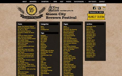 Screenshot of Site Map Page qcbrewfest.com - Queen City Brewers Festival | Sitemap - captured Oct. 3, 2014