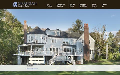 Screenshot of Login Page meridiancustomhomes.com - User Log In - captured Oct. 27, 2014