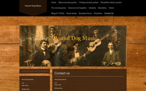 Screenshot of Contact Page hounddogmusic.co.uk - Hound Dog Music - Contact Us - captured July 18, 2016