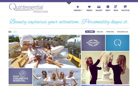 Screenshot of Home Page Terms Page qtpromos.com - Quintessential Promotions Modeling Agency in Miami, Florida - captured Sept. 23, 2014
