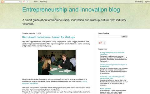 Screenshot of Blog lazyandsmart.com - Entrepreneurship and Innovation blog - captured Nov. 2, 2014