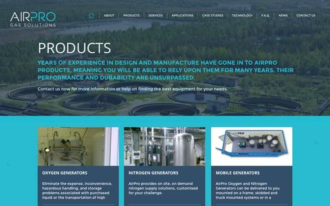 Screenshot of Products Page airpro.ie - Air Pro - captured Sept. 30, 2014