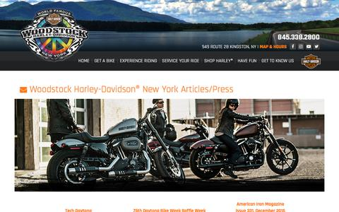 Screenshot of Press Page woodstockharley.com - Articles | Woodstock Harley-Davidson® | Kingston New York - captured Nov. 5, 2017