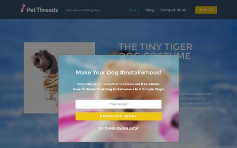 Screenshot of Home Page petthreads.com.au - Pet Threads | Australian Pet Clothes & Costumes Store - captured July 20, 2015
