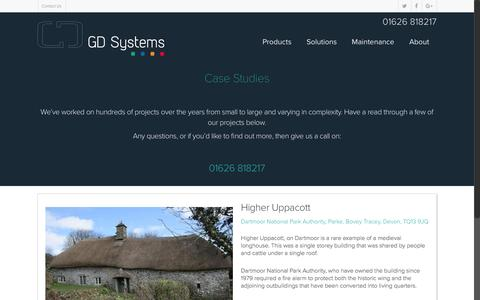Screenshot of Case Studies Page gdsystems.com - Who We've Helped | Case Studies | GD Systems - captured Oct. 6, 2016