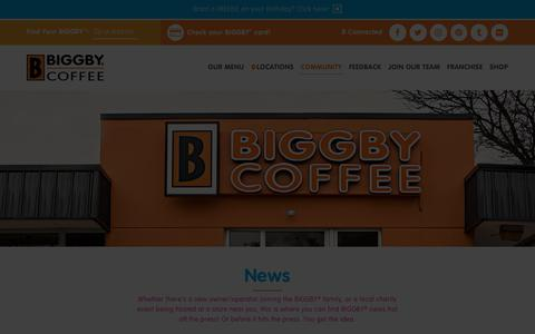 Screenshot of Press Page biggby.com - BIGGBY® COFFEE News- Find out what's been going on in BIGGBY® Nation - captured Nov. 9, 2019