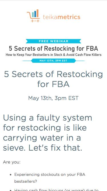 How to Keep FBA Bestsellers in Stock Without Harming Your Cash Flow