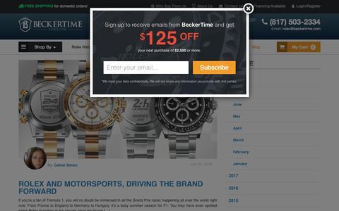 Screenshot of Blog beckertime.com - BeckerTime Rolex Blog - New & Used Rolex Watch News - captured Aug. 1, 2018