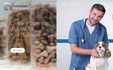 Screenshot of Services Page wix.com - Business Website Builder | Create Small business website | Wix.com - captured Feb. 5, 2016