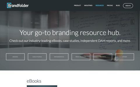 Screenshot of Case Studies Page brandfolder.com - Resources: Learn More About DAM & The Brands Using Brandfolder's Platform - captured March 9, 2017