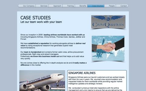 Screenshot of Case Studies Page crewquarters.co.uk - crewquarters | Case Studies - captured Nov. 14, 2016