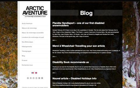 Screenshot of Blog arcticaventure.com - Arctic Aventure   » Blog - captured Sept. 30, 2014