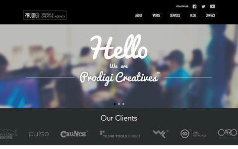 Screenshot of Home Page prodigicreatives.com - Prodigi Creatives | Manila Web Design Agency - captured Oct. 3, 2014