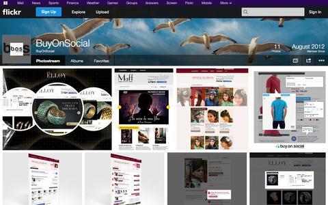 Screenshot of Flickr Page flickr.com - Flickr: BuyOnSocial's Photostream - captured Oct. 22, 2014