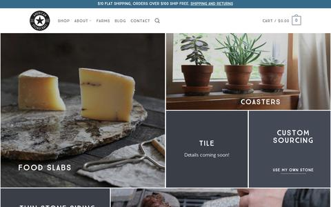 Screenshot of Products Page americanstonecraft.com - What We Make | Fieldstone Products | American Stonecraft - captured July 30, 2018