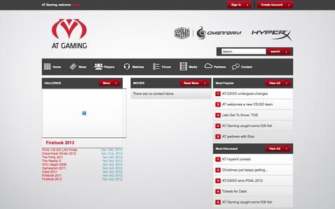 Screenshot of Press Page atgaming.eu - Media - AT Gaming - captured Sept. 30, 2014