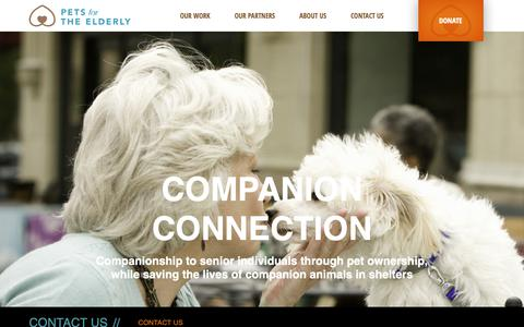 Screenshot of Contact Page petsfortheelderly.org - Our Mission | Pets for the Elderly - captured Oct. 24, 2018
